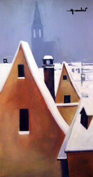 LES TOITS DE STRASBOURG 2012 195 X 97 CM